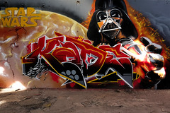 Graff by Kad ! (Stphane LANDMANN) Tags: streetart dark star starwars grafitti tag spray peinture wars graff artiste peintre vador darkvador kad