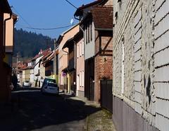 Themar town (:Linda:) Tags: street germany town bluesky thuringia peelingpaint themar slateshingled