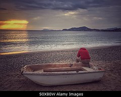 Photo accepted by Stockimo (vanya.bovajo) Tags: sunset sea man male men beach boat alone sad disappointed iphone iphonegraphy stockimo
