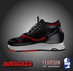 Murdered Red (--- FEARSUM ---) Tags: life sports flat running sl second sneaker joggers hightop slink