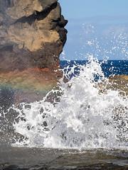 water frozen (dolanh) Tags: hawaii maui spray nakaleleblowhole kahekilihighway