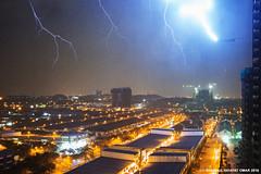 February 24 2016 Lightning (Shamsul Hidayat Omar) Tags: rain weather photography nikon long exposure raw ken drop malaysia bolt lightning omar selangor shah alam rimba hidayat greatphotographers kilat shamsul d800e
