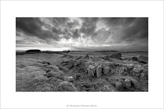 Weather on the Way (Mike Palmer Fauxtography. Off) Tags: park england bw monochrome wall 30 corner canon eos mono country northumberland national lee 7d nd limestone usm filters grad borders hadrians efs1022mm simonside f3545 michaelpalmer milecastle