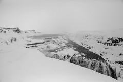 Gullfoss Waterfall (GPhace) Tags: travel vacation blackandwhite bw canon iceland europe naturephotography 2016 travelphotography 24105mm landoffireandice gullfosswaterfall gullf 5dmiii