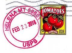 Helena, Montana  59601 (Postmarks from Montana) Tags: montana helena postagestamp postmark february23 2016