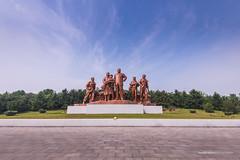 Grand Monuement in North Korea (reubenteo) Tags: sunset building sunrise landscape asia korea communist communism kimjongil socialist socialism northkorea pyongyang kimilsung kimjongun