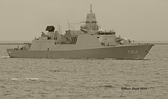 HNLMS De Ruyter (wok smuggler) Tags: boat ship outdoor military transport vessel vehicle frigate nato warship manofwar f804 plymouthsound netherlandsnavalvessel visitingnavy