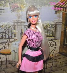 1995 Crystal Splendor Platinum Barbie Doll (The doll keeper) Tags: pink black face fashion outfit doll crystal barbie ponytail 1995 mold superstar platinum finds splendor