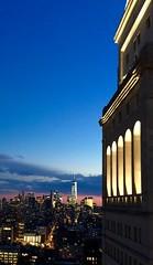 Arcade + One World Trade (Lilbitaltg) Tags: lighting newyorkcity sunset skyline arcade metlifetower downtownmanhattan freedomtower oneworldtrade editionhotel