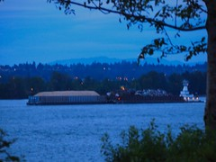 Fireworks 20140704 (caligula1995) Tags: clouds oregon portland dusk columbiariver barge 2014 jantzenbeach