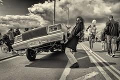 CP - 016 Wonder Woman in Brighton (Clare Pickett) Tags: people classic car brighton buicklowrider