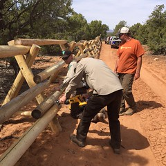 Fence Building (BLMUtah) Tags: friends archaeology field fence project utah office day earth rail cedar kane volunteer buck monticello partnership mesa cultural resources gulch blm bureauoflandmanagement stewardship earthday2016