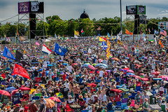 Flags over Jazz Fest (Tom Pumphret) Tags: music photography concert neworleans crowd band flags nola jazzfest neworleansjazzandheritagefestival 2016 lousisiana jazzfest2016