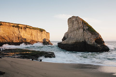 Shark Fin Cove (rogergabrielgarcia) Tags: ocean california sunset beach canon coast shark cove 5d garcia roger fin