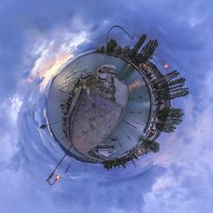 San Feliciano - Darsena (Galep Iccar) Tags: blue sunset italy lake landscape lago landscapes italia tramonto blu sphere paesaggio umbria trasimeno sfera proiezione sanfeliciano stereografia proiezionestereografica