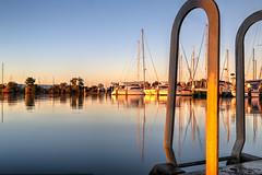 On golden pond (Thunder1203) Tags: sea canon harbour au australia victoria coastal hastings westernportbay canoneos5dmarkiii sunrisehastingsmarinathunder1203