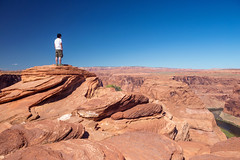 Me at the Horseshoe Bend (ExceptEuropa) Tags: road travel arizona portrait sky people usa mountain nature clouds canon landscape photography photographer desert horizon az roadtrip page geography geology majestic epic canonef2470mmf28lusm traveler horseshoebend canon6d
