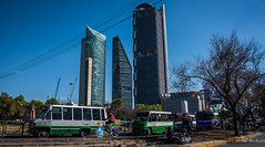 2016 - Mexico City - West End High-rise - 1 of 2 (Ted's photos - For Me & You) Tags: people buses bicycle mexico mexicocity wheels streetscene tires cranes highrise cropped constructioncranes vignetting condesa 2016 tedsphotos peopleandpaths tedsphotosmexico