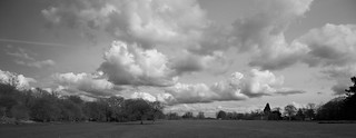 Clouds roll over the grounds of Chorleywood House
