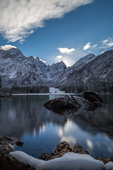 laghi di fusine winter (michael.taferner) Tags: winter sky italy lake snow mountains cold nature water clouds canon landscape eos outdoor nd 1000 6d 24105l