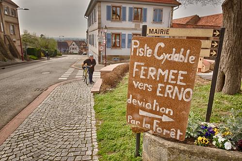 Cycleway detour