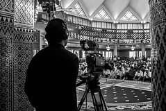 One of the Cameraman covering live telecast Friday prayers from Malaysian's National Masjid. #photo #photography #humaninterest #blackandwhite #bnw_life #bnw #job #architecture #interior #design #igdaily #igersmalaysia #instadaily #igdaily (Ezry A Rahman) Tags: square human squareformat interest masjid negara masjidnegara iphoneography instagramapp uploaded:by=instagram