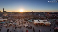 Sunset above Djemaa el Fna (dieLeuchtturms) Tags: sunset sonnenuntergang morocco maroc marrakech medina afrika marrakesh marokko jemaaelfna 16x9 marrakesch djemaaelfna djemaaelfnaa marrakechtensiftalhaouz platzdergehngten