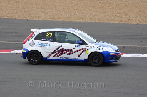 Jack Davidson in the BRSCC Fiesta Junior Championship at Silverstone, April 2016