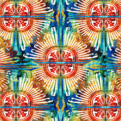 Pattern Art - Color Fusion Design 2 By Sharon Cummings (BuyAbstractArtPaintingsSharonCummings) Tags: blue red color green floral sign yellow modern star rainbow colorful pattern cross bright lace feminine contemporary vibrant highcontrast mandala elegant delicate healing primary brilliant celticcross starburst bold primarycolors chakras intricate rainbowcolors healingmandala vintagepattern colorfulart sharoncummings uniquedesign colorfulpatterns chakracolors elegantpattern