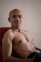 IMG_1442 (Zefrog) Tags: uk portrait man london pecs asian topless johann zefrog