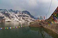 Tsongmo (AnilGoyal Pixelart) Tags: lake awesome faith buddhism flags tibetan himalaya heights himalayas sikkim highaltitude himalyas tsongmo anilgoyalpixelart anilgoyal chhangoo