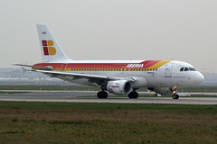 "Iberia Airbus A319-111 EC-HGS ""Bardenas Reales"" (Kambui) Tags: airplane airplanes frankfurtammain iberia aviones avions flugzeuge rheinmain  avies eddf aeroplani kambui"