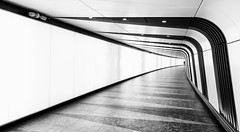 Tunnel of Light (mg photography2) Tags: city uk travel england urban white black london monochrome station architecture canon mono europe cross rail tunnel architectural kings