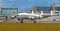 TBT! HB-RSC. Breitling Super Constellation (60 yrs sticker). (Themarcogoon49) Tags: switzerland airport aircraft constellation breitling planespotting gva cointrin avgeek