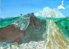 The Return (Dawn Richerson) Tags: ireland atlanta horse mountain art animal painting georgia us artist queen return soul sacred intuitive inspirational maeve spiritual soulful inspiring sligo activation soulart dawnricherson