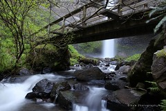 Bridge at the Waterfall (Aike's Photography) Tags: longexposure bridge nature water oregon composition rocks stream waterfalls silky
