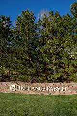 Highlands Ranch (Dominic Sagar) Tags: trees grass sign wall us colorado unitedstates pines lonetree highlandsranch 1eyespy eyespymytown