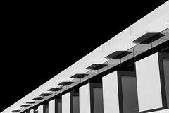 Diagonal (Leandro C Rodrigues) Tags: blackandwhite bw white abstract black building geometric monochrome lines linhas blackbackground architecture shadows geometry perspective shapes sombra diagonal perspectiva minimalism formas geometria