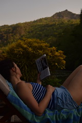 Farniente (bonnaudthomas) Tags: blue mountain green montagne thailand reading vert thalande bleu jungle lecture