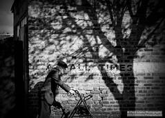 At All Times (Fred-Adams) Tags: street tree london monochrome blackwhite shadows decay candid streetphotography oldman monochromatic signage holloway brickwork ageing pensioner alltimes atalltimes fredadamsphotography