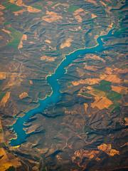 Embalse de Pearroya (khn.carsten) Tags: lake landscape see spain wasser landschaft spanien birdseye ort vogelperspektive