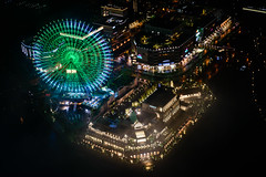 Ferris Isle (H.H. Mahal Alysheba) Tags: city urban japan night landscape nikon cityscape ferriswheel yokohama nikkor afs d800 58mmf14