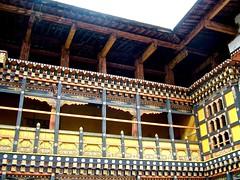 Ringpung Dzong, Paro, Bhutan (susiefleckney) Tags: detail woodwork bhutan decoration paro ringpungdzong