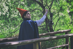 _MG_1316 (Dun By Kaitlin) Tags: bridge green nature wall garden woods cosplay over lantern wirt