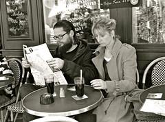 Montmartre (cad.coco) Tags: paris caf noiretblanc terrasse streetphotography montmartre sacrcoeur tourisme