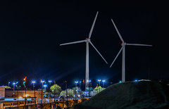 twin triple blades (pbo31) Tags: california black color night dark giant nikon energy industrial december wind farm country twin tracy costco bayarea depot eastbay triple turbine blades 2015 sanjoaquincounty boury pbo31 d810