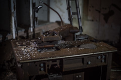 Type Set Machine? (Evan's Life Through The Lens) Tags: road camera urban tower abandoned station club radio vintage hospital outside 50mm minolta sony exploring flare inside exploration asbestos urbex tuberculosis urbexing a7s