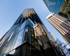Trump Tower, NYC (nianci pan) Tags: nyc sky urban reflection glass metal modern manhattan sony 5thavenue pan trumptower  modernarchitecture   architecturalelements sonyalphadslr  nianci sonyphotographing