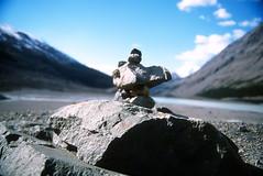 Inukshuk (luxaeternum) Tags: summer panorama canada landscape rockies vivitar x700 series1