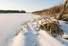 Withered grass on the bank of the snow-covered bayou (andrey.senov) Tags: russia kostroma winter frost snow january bayou river ice grass россия кострома зима мороз снег январь залив река лед трава fujifilm fuji xa1 fujifilmxa1 45faves